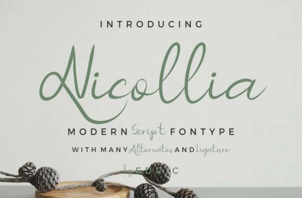 Nicollia Script Font