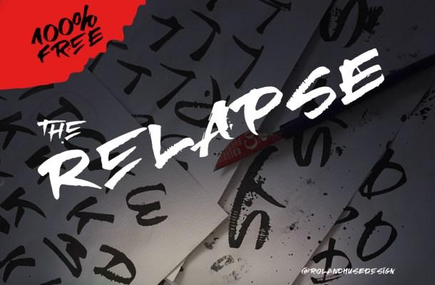 RElapse Brush Font
