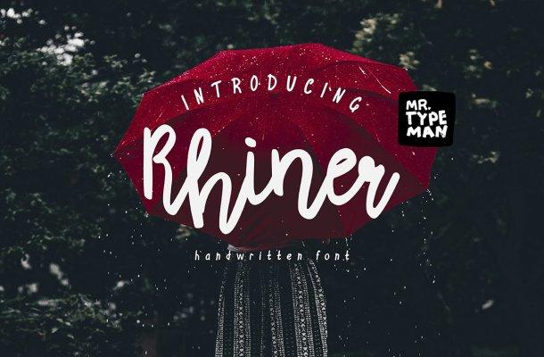 Rhiner Script Font