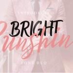 Bright Sunshine Script Font Duo