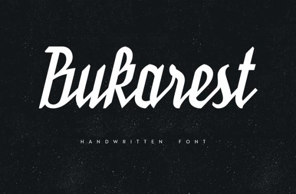 Bukarest Handwriting Font