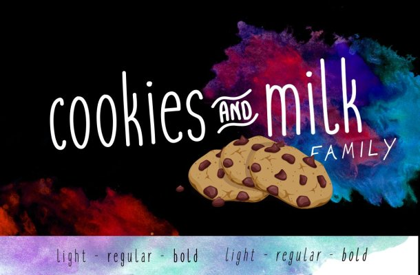 Cookies and milk Font