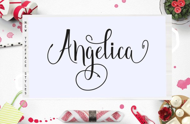 Angelica Script Font