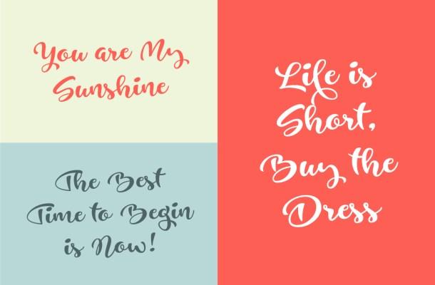 Just Be Script Font