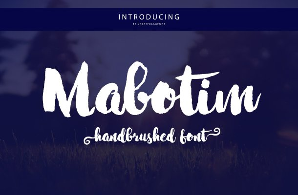 Mabotim Brush Font