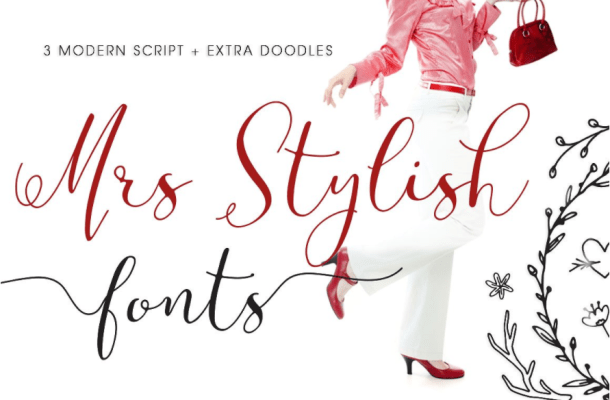 Mrs Stylish Script Font