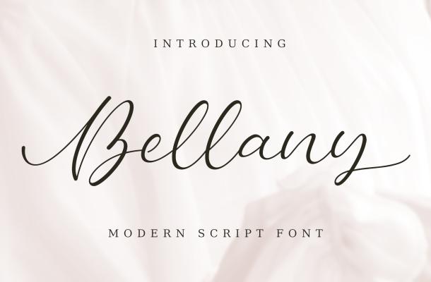 Bellany – Modern Script Font