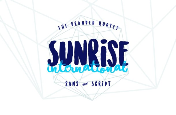 Sunrise International Font