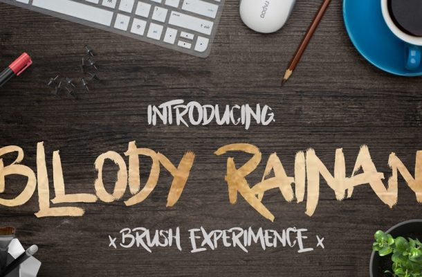 Bllody Rainan Brush Font
