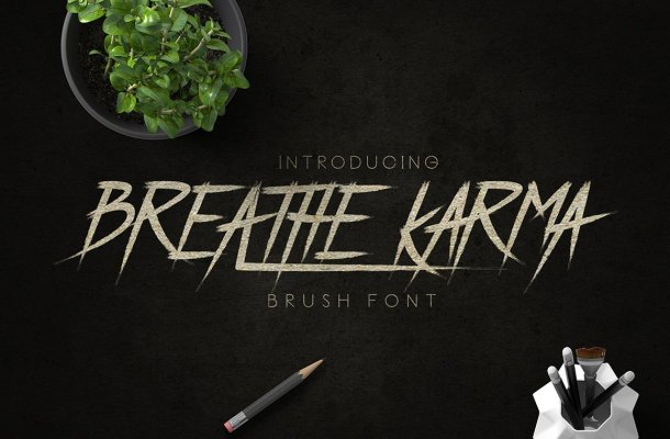 Breathe Karma Typeface