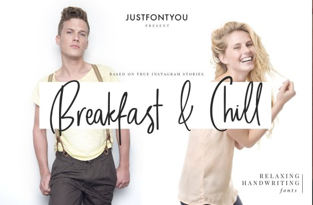 Breakfast and Chill Script Font