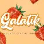 Galatik Script Font