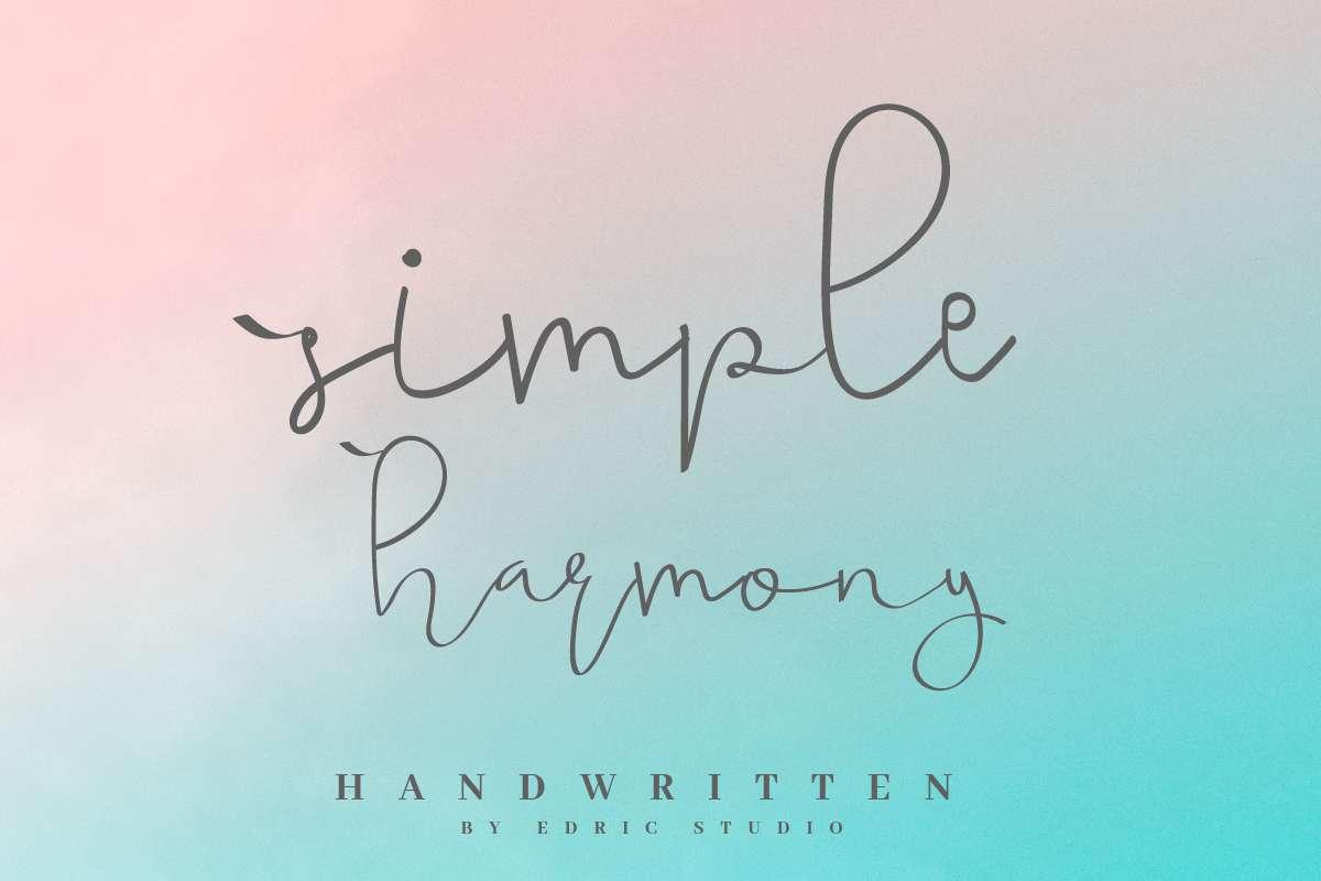 Simple-Harmony-Font-2