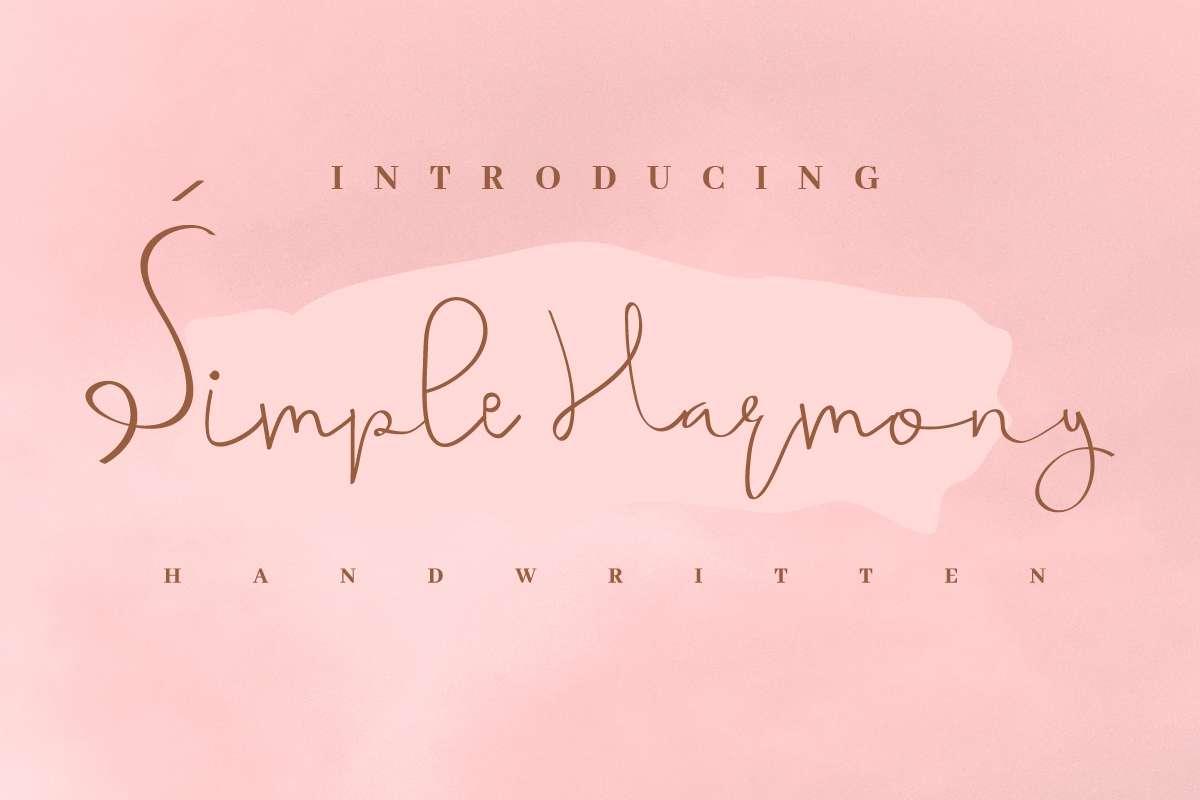 Simple-Harmony-Font
