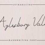 Aylesbury Vale Handwritting Font