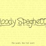 Moody Spaghetty Font