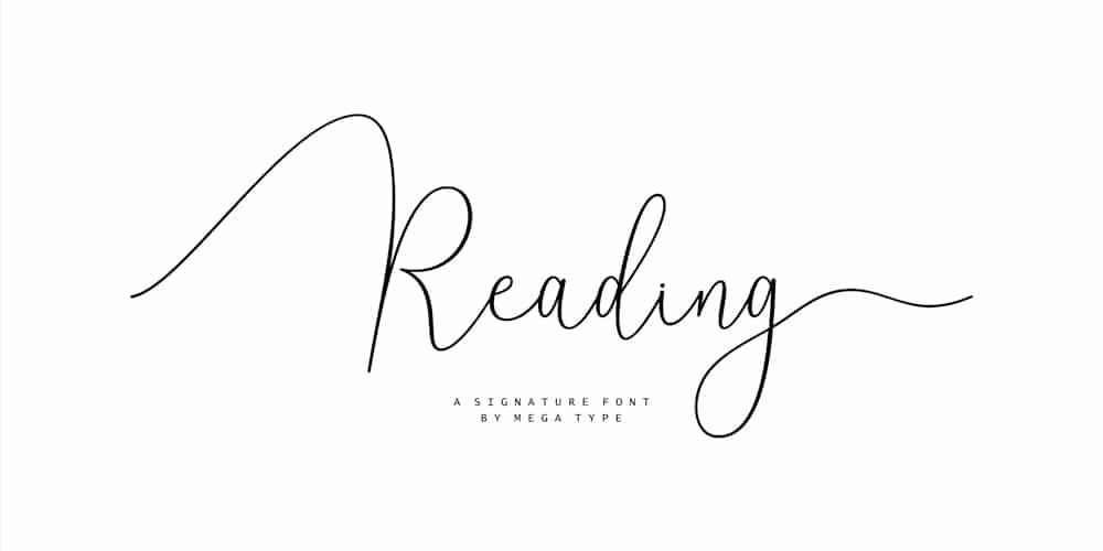 Reading-Script-Font