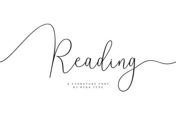 Reading Signature Font
