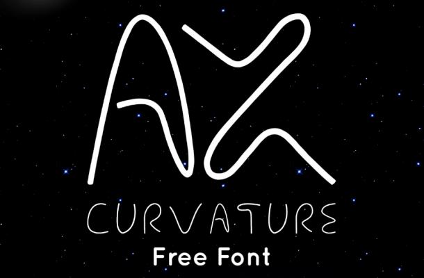 AX Curvature Font