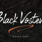 Black Vosten Brush Font