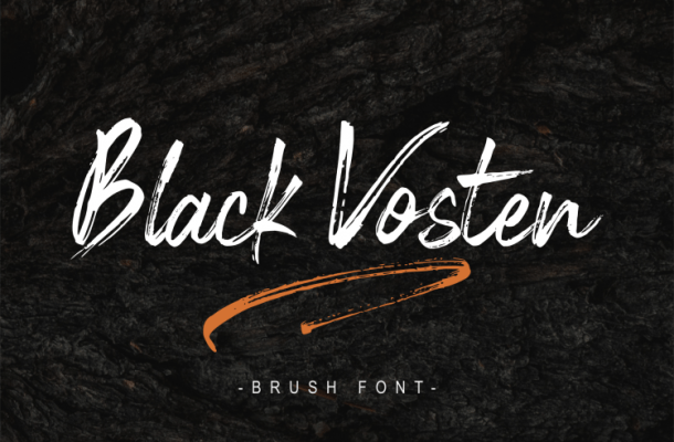 Black Vosten Brush Font