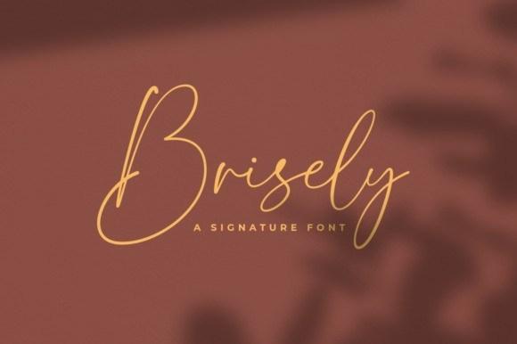 Brisely Signature Font