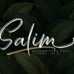 Salim Brush Font