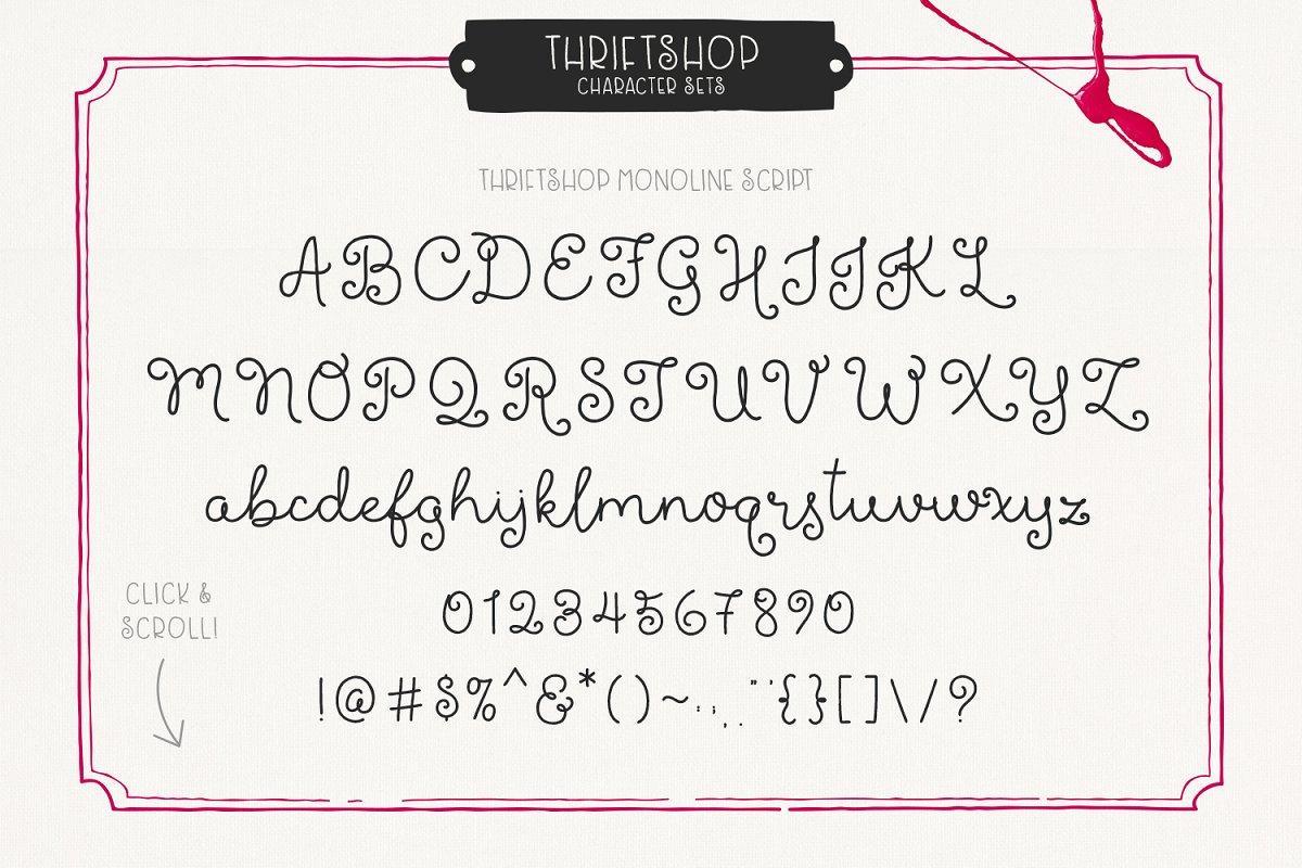 Thriftshop Font-3