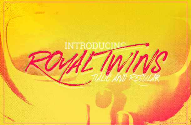 Royal Twins Brush Font