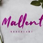 Mallent Brush Font
