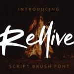 Rellive Brush Font