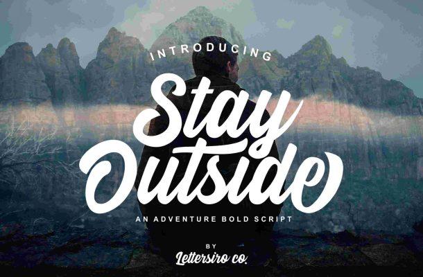 Stay Outside Script Font