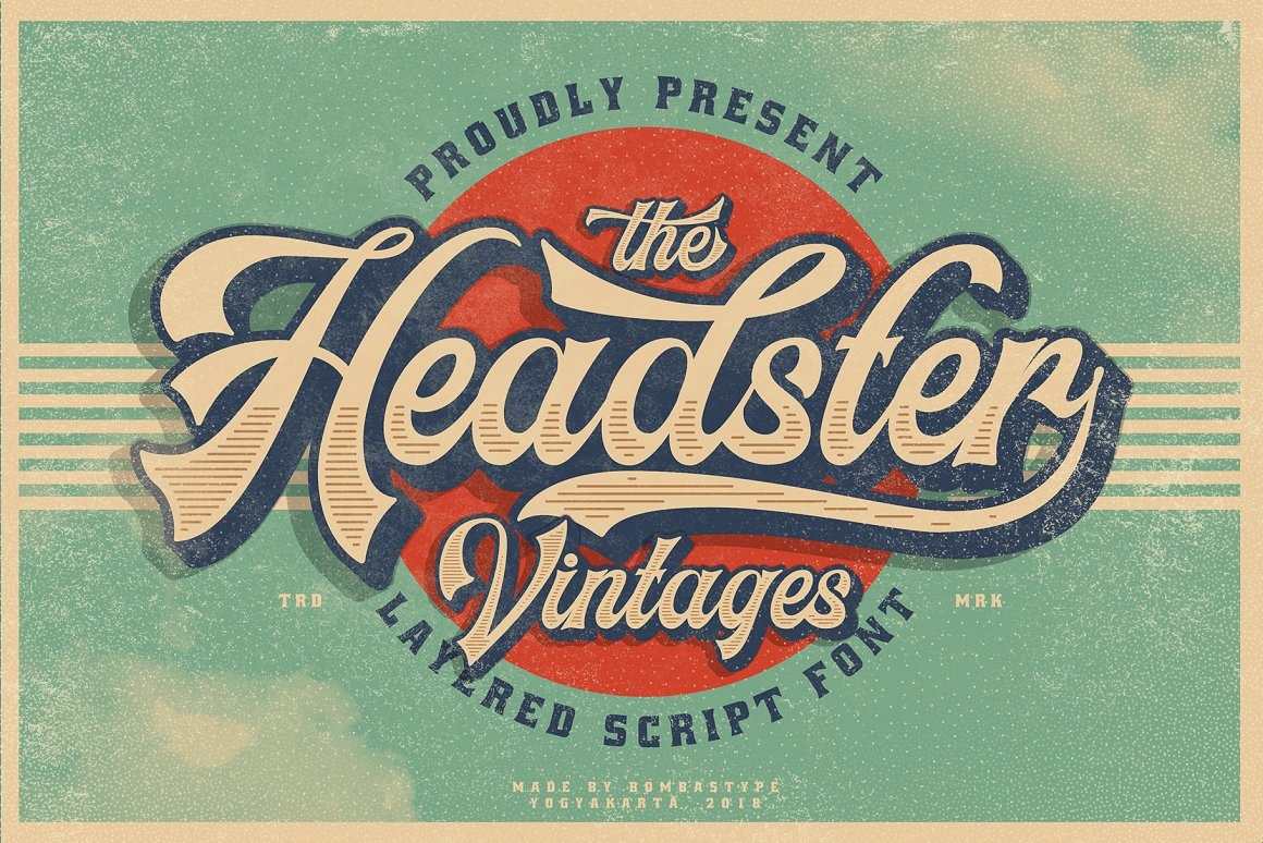 Headster-Layered-Font