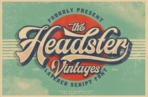 Headster Layered Font Family