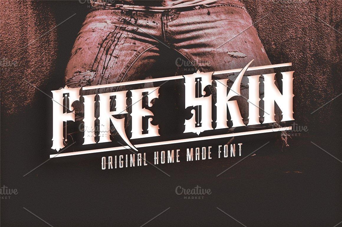 Fire-Skin-Font