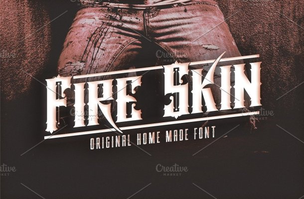 Fire Skin Font