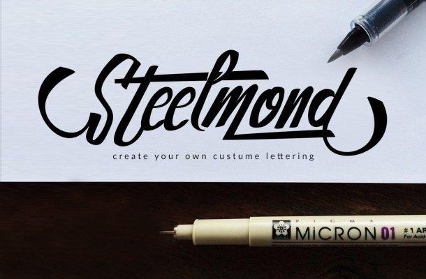Steelmond Script Font