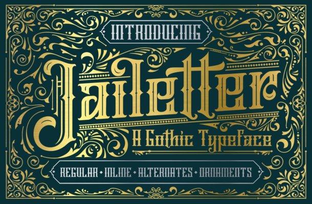 Jailetter Typeface Font