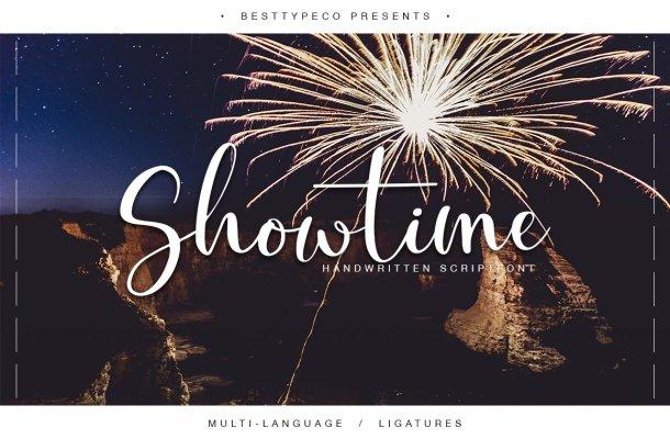 Showtime Script Font