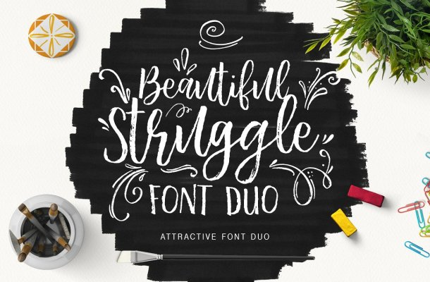 Beautiful Struggle Font Duo