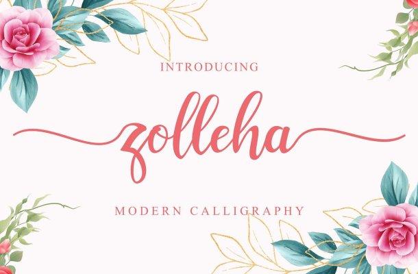 Zolleha Script Font