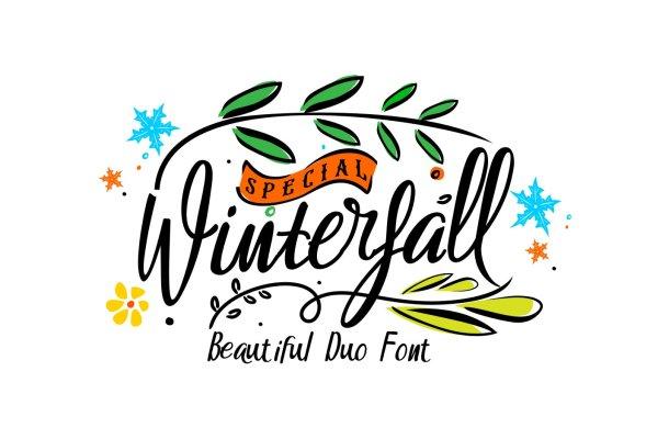 Winterfall Handlettring Font