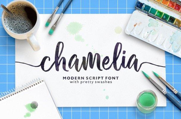 Chamelia Script Font