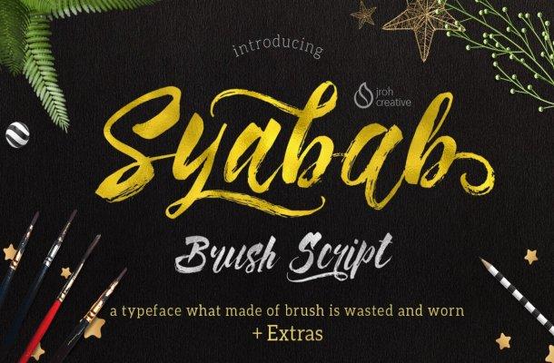 Syabab Brush Script Font