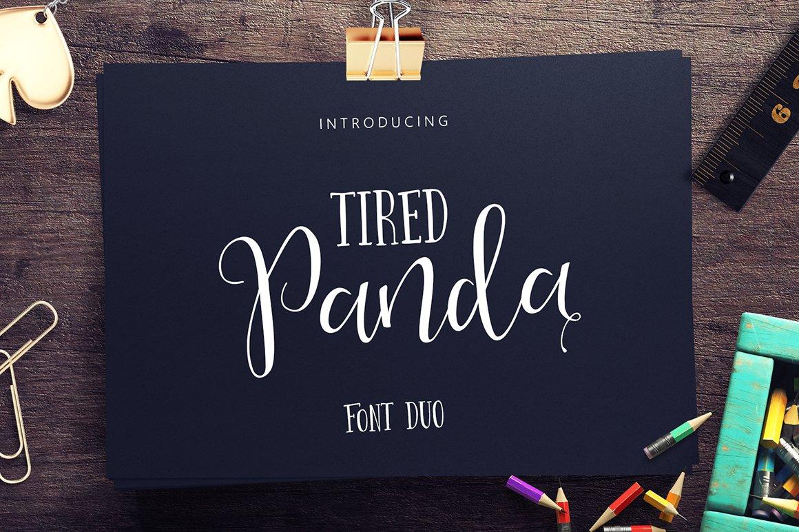 Tired-Panda-Font