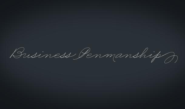 Business Penmanship Script Font