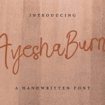 Ayesha Burns Handwriting Font