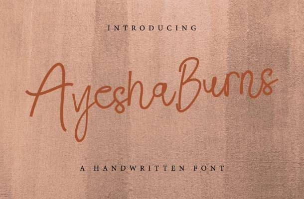 Ayesha Burns Handwriting Font