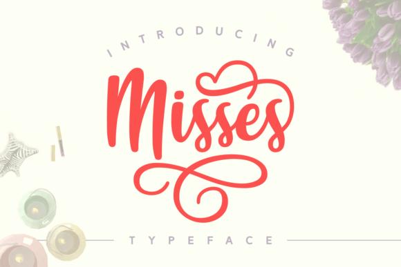 Misses Script Font