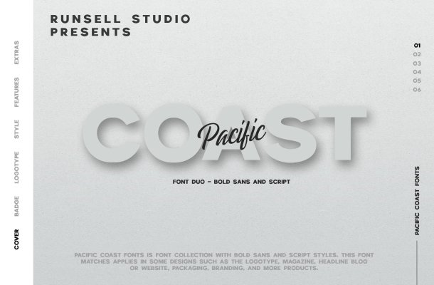 Pacific Coast Font Duo